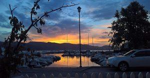 Schulestedet - Utsikt i solnedgang