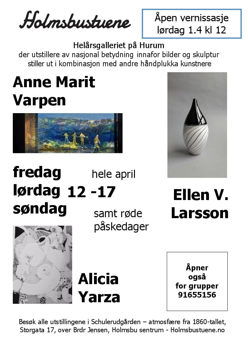 Holmsbustuene - plakat - april 2017