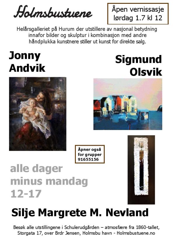 Holmsbustuene - Utstillingsplakat juli 2017