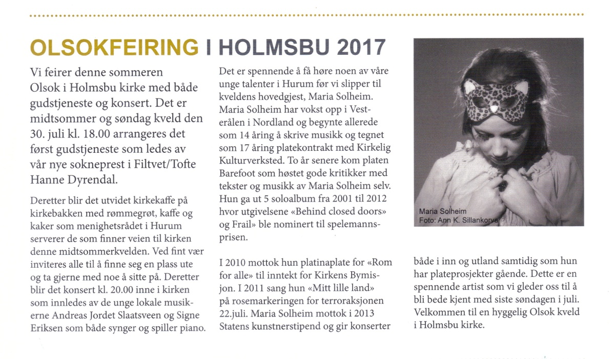 Holmsbu kirke - Olsok (2)