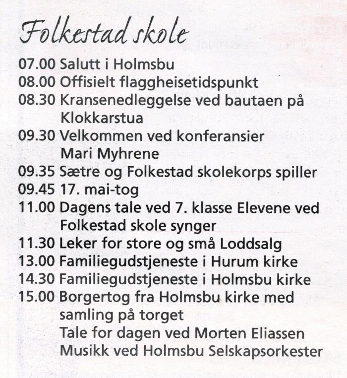 17. mai 2018 - Folkestad skole