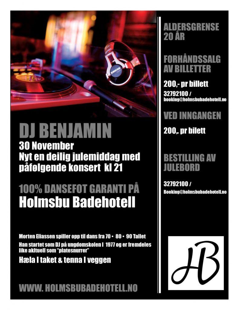 DJ Benjamin - Plakat