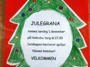 Julegrantenning i Holmsbu