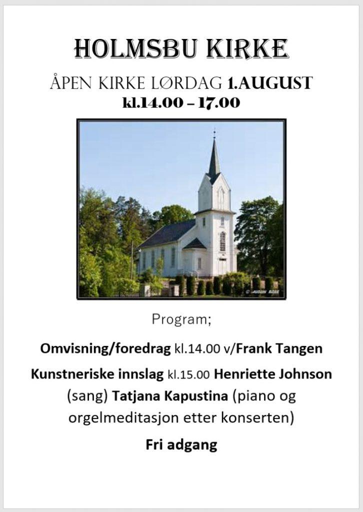 Åpen kirke - 01.08.20