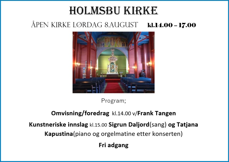 Holmsbu kirke - 08.08.20